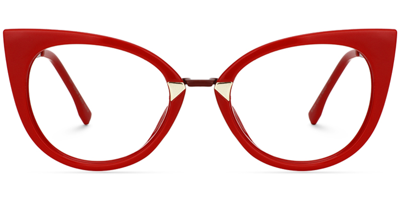 Jacqueline Cat Eye Red Glasses Zeelool Optical